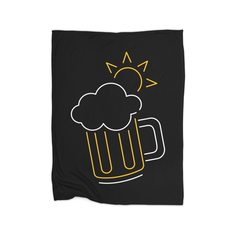 Sunny beer Home Fleece Blanket Blanket by Rodrigobhz