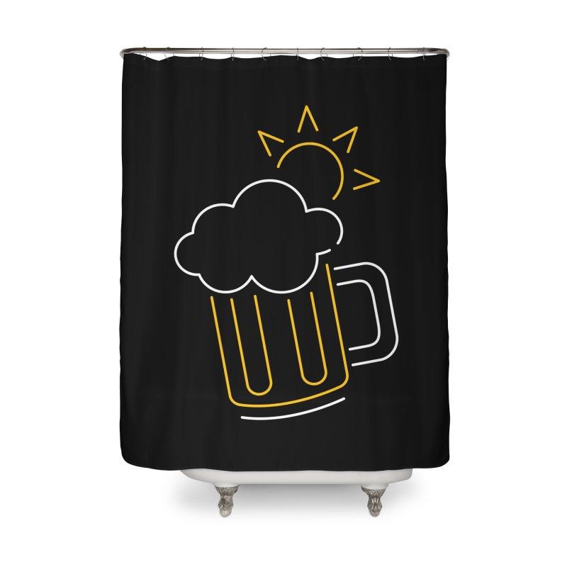Sunny beer Home Shower Curtain by Rodrigobhz