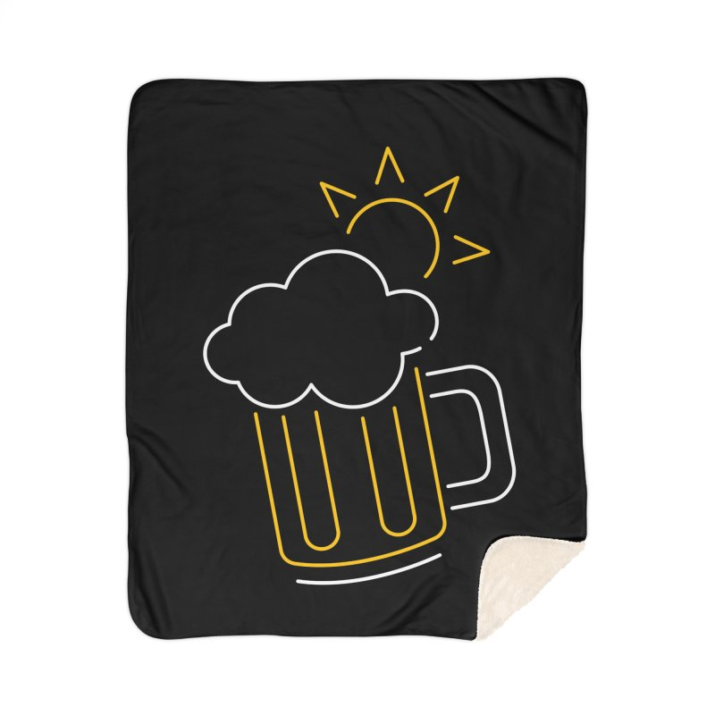 Sunny beer Home Sherpa Blanket Blanket by Rodrigobhz