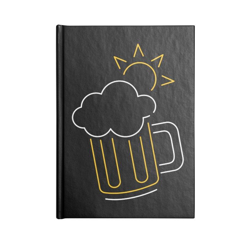 Sunny beer Accessories Blank Journal Notebook by Rodrigobhz