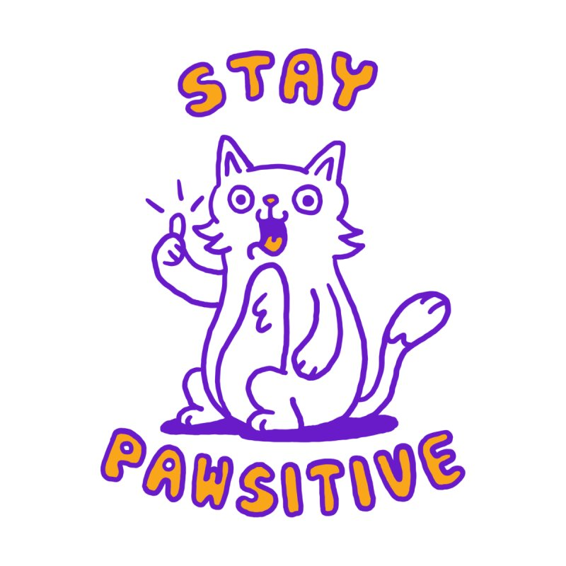 Stay pawsitive Kids T-Shirt by Rodrigobhz