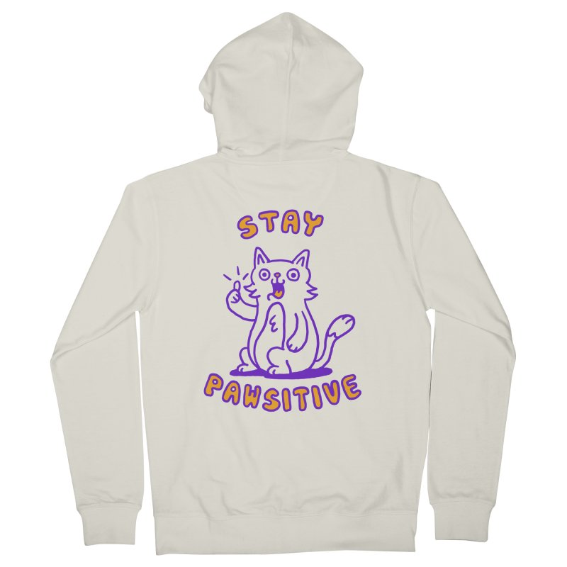 Stay pawsitive Men's Zip-Up Hoody by Rodrigobhz
