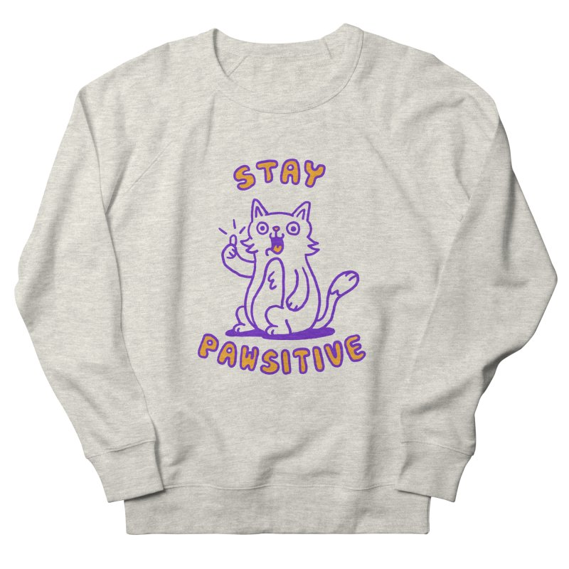 Stay pawsitive Men's Sweatshirt by Rodrigobhz