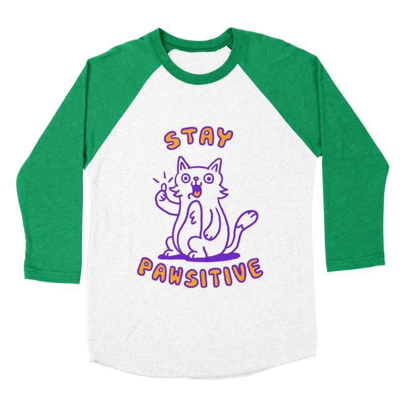 Stay pawsitive Women's Baseball Triblend T-Shirt by Rodrigobhz