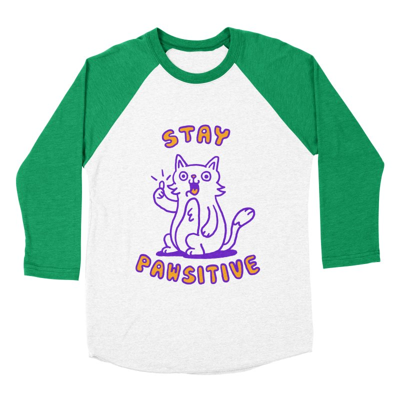 Stay pawsitive Men's Baseball Triblend T-Shirt by Rodrigobhz