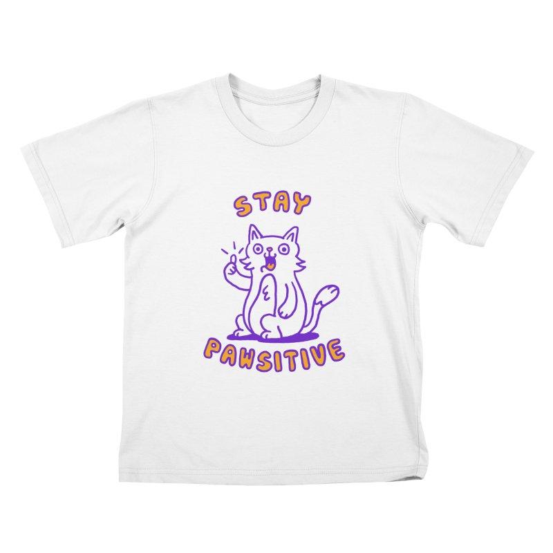 Stay pawsitive Kids T-shirt by Rodrigobhz