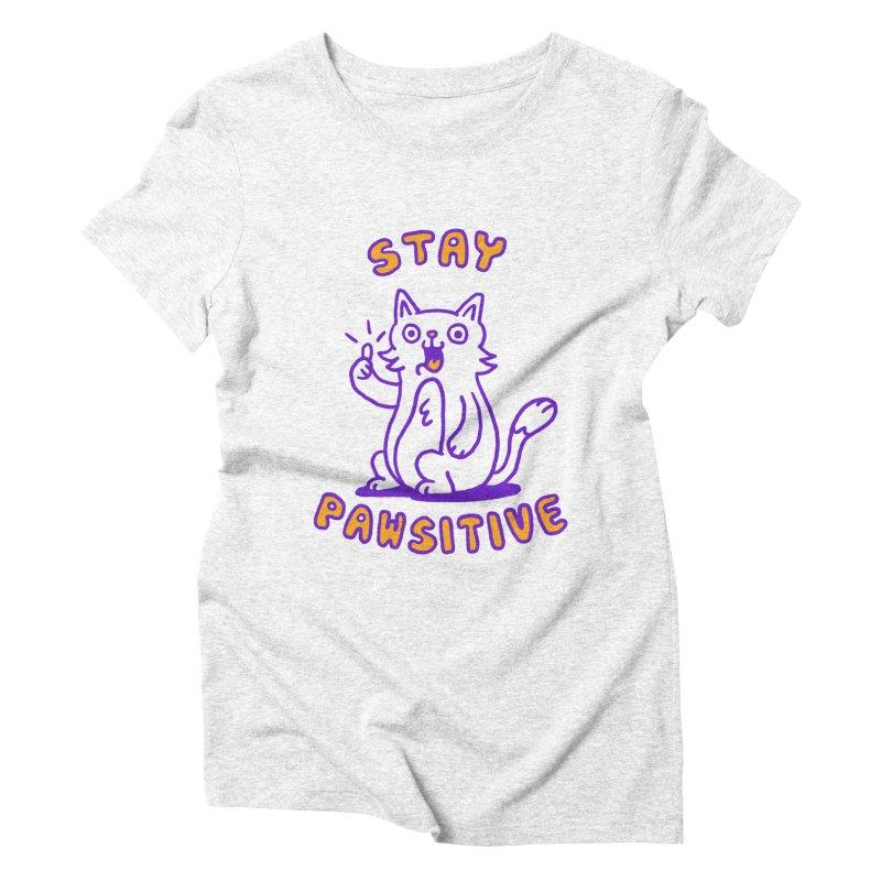 Stay pawsitive Women's Triblend T-shirt by Rodrigobhz