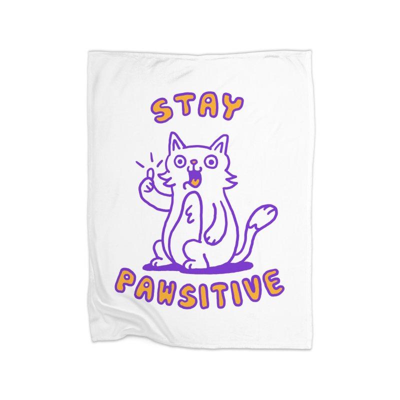 Stay pawsitive Home Blanket by Rodrigobhz