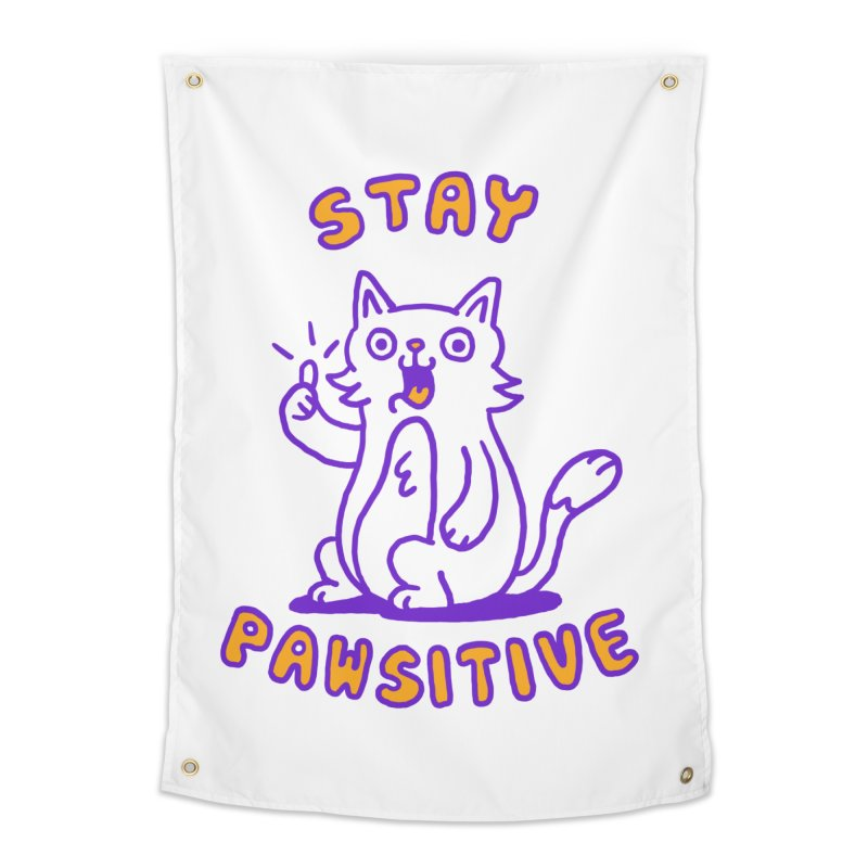Stay pawsitive Home Tapestry by Rodrigobhz