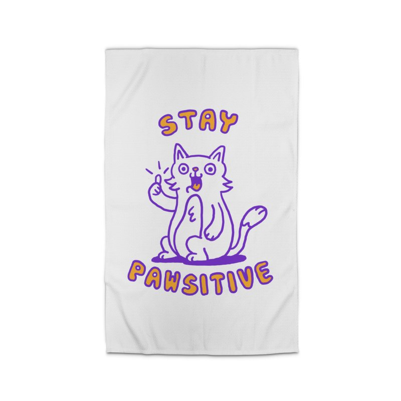 Stay pawsitive Home Rug by Rodrigobhz