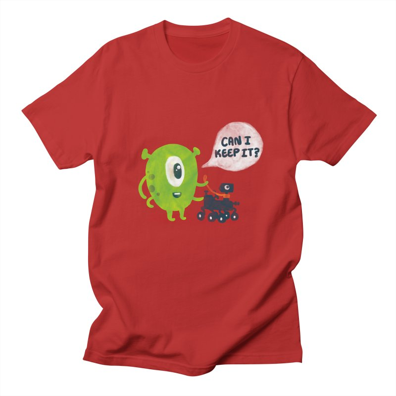 Meanwhile on Mars Men's T-shirt by Rodrigobhz