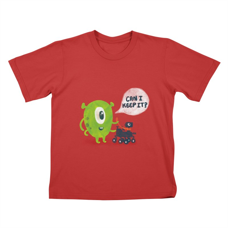 Meanwhile on Mars Kids T-shirt by Rodrigobhz