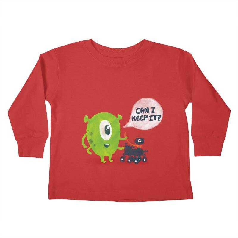Meanwhile on Mars Kids Toddler Longsleeve T-Shirt by Rodrigobhz