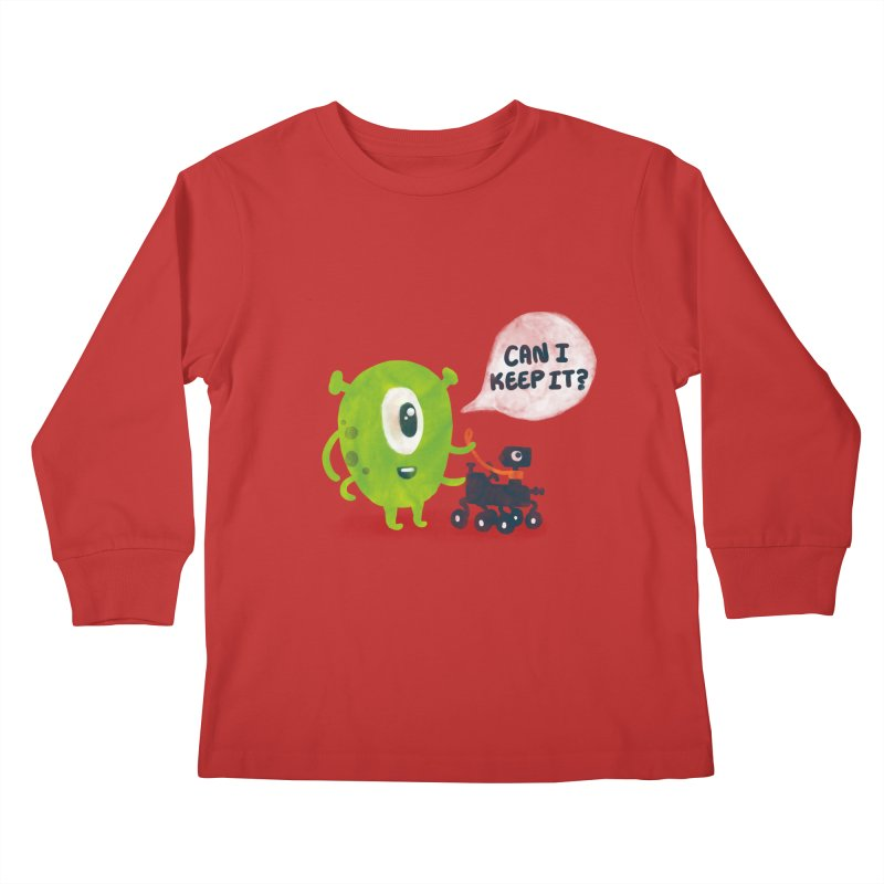 Meanwhile on Mars Kids Longsleeve T-Shirt by Rodrigobhz