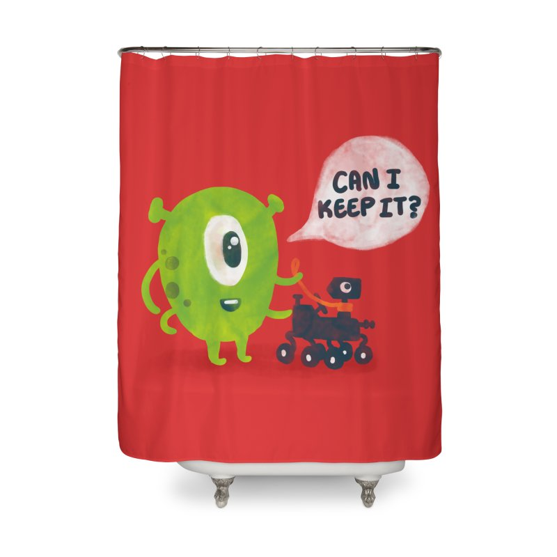 Meanwhile on Mars Home Shower Curtain by Rodrigobhz