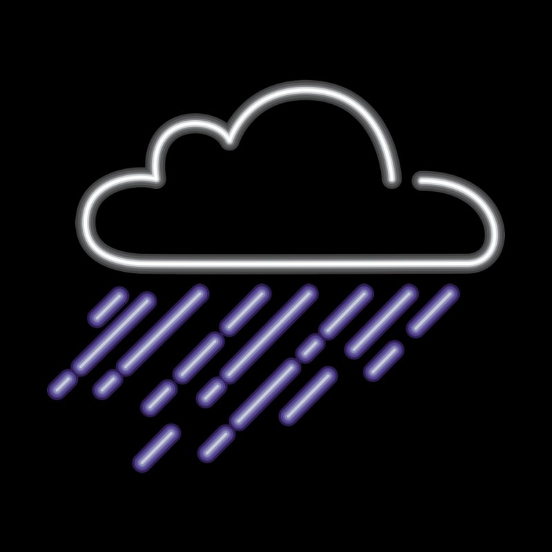 Purple Rain Home Blanket by Rodrigobhz