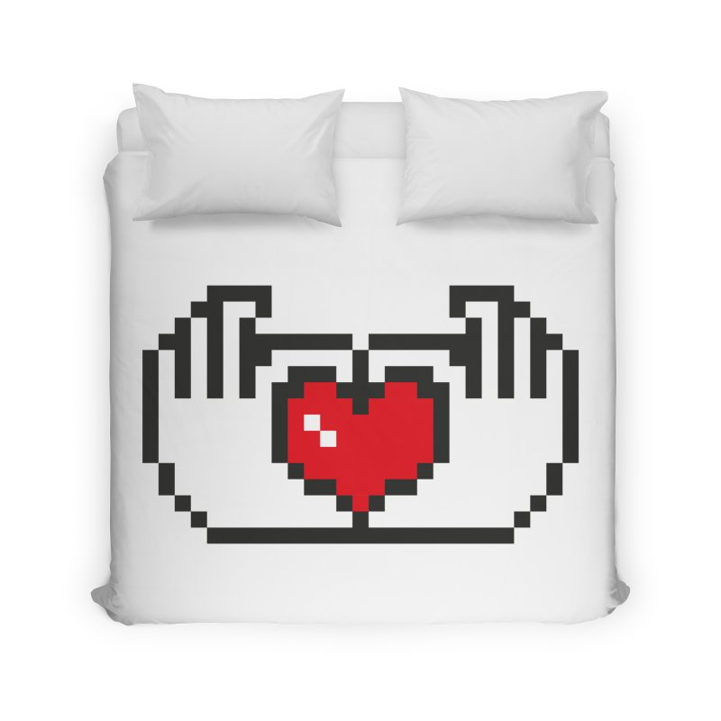 Click heart Home Duvet by Rodrigobhz