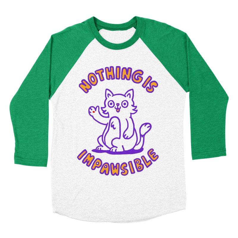 Nothing is impawsible Women's Baseball Triblend T-Shirt by Rodrigobhz