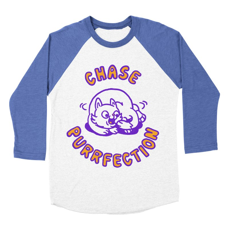 Chase purrfection Women's Baseball Triblend Longsleeve T-Shirt by Rodrigobhz