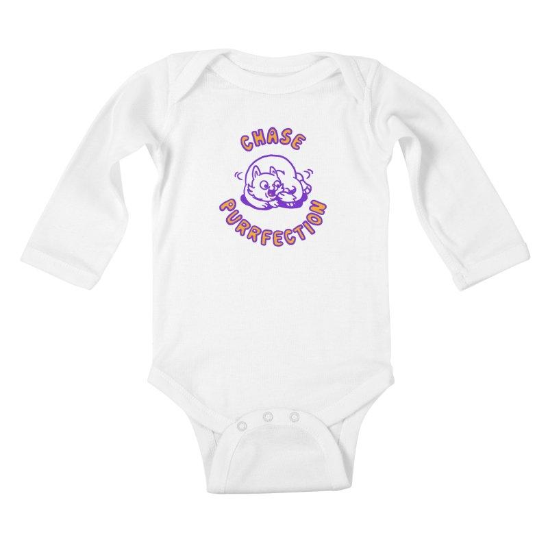 Chase purrfection Kids Baby Longsleeve Bodysuit by Rodrigobhz