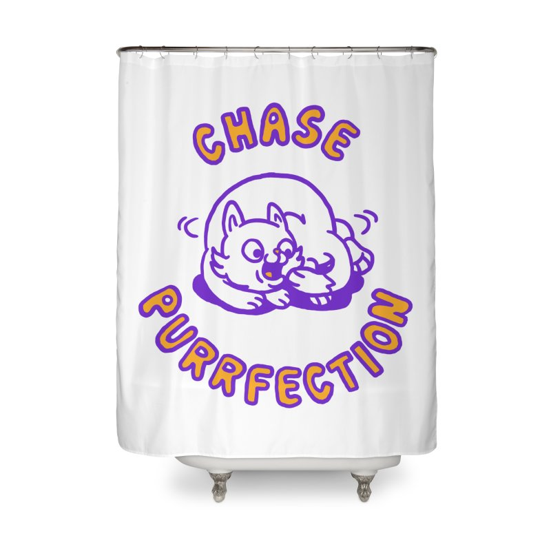 Chase purrfection Home Shower Curtain by Rodrigobhz