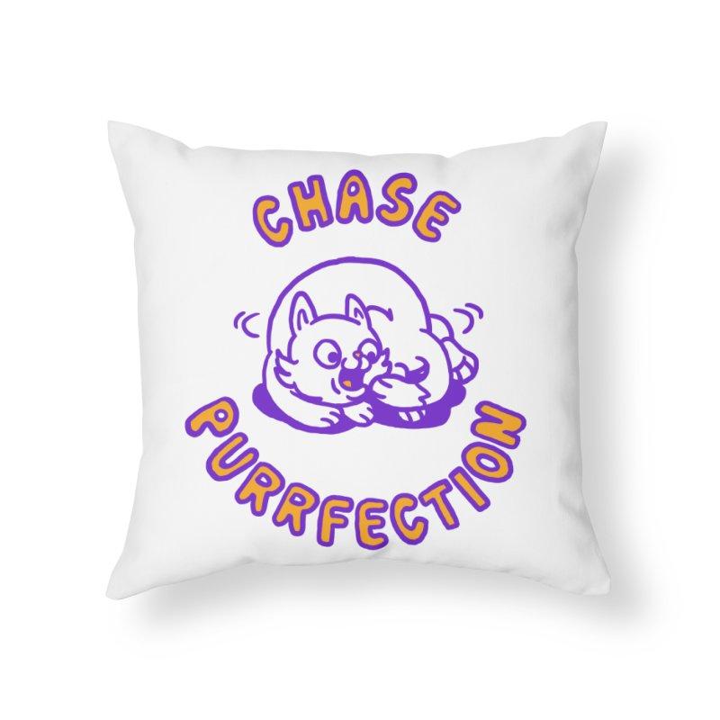 Chase purrfection Home Throw Pillow by Rodrigobhz