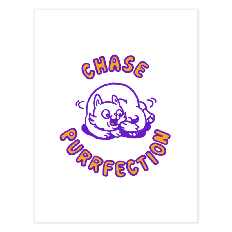 Chase purrfection Home Fine Art Print by Rodrigobhz