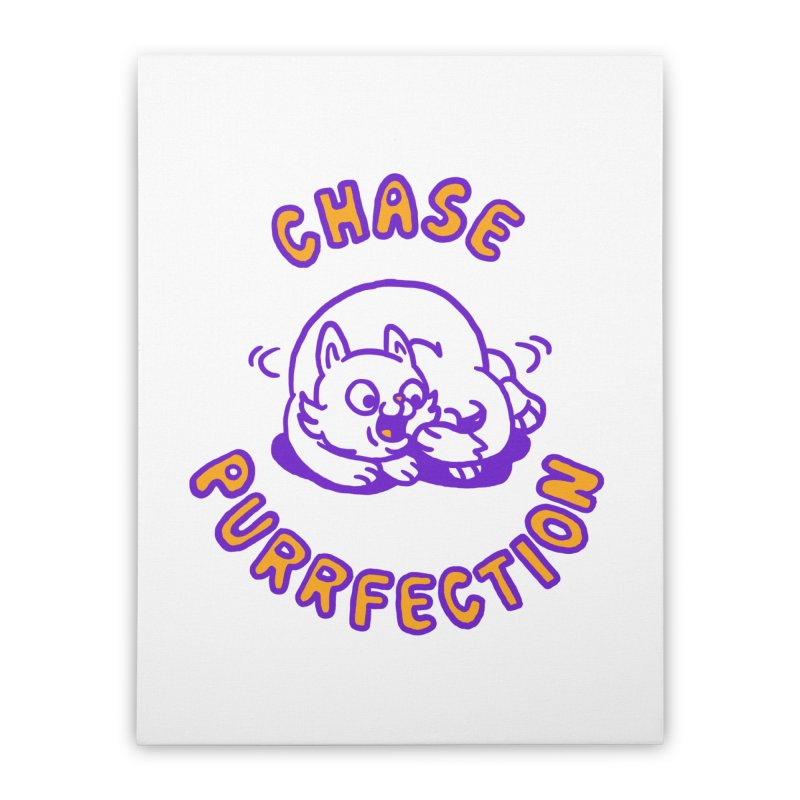 Chase purrfection Home Stretched Canvas by Rodrigobhz