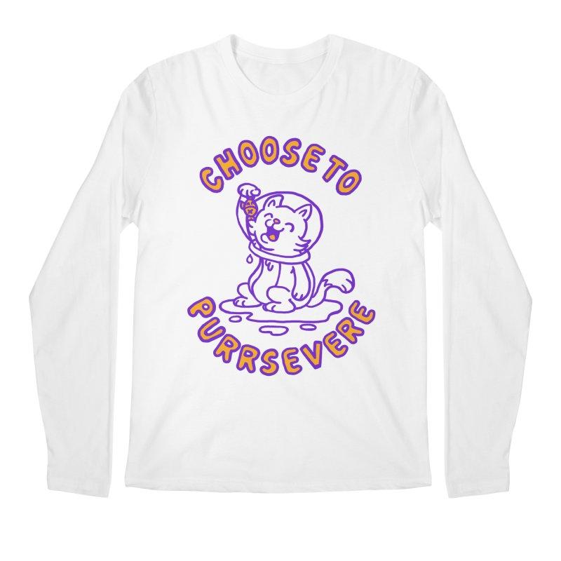 Choose to purrservere Men's Regular Longsleeve T-Shirt by Rodrigobhz