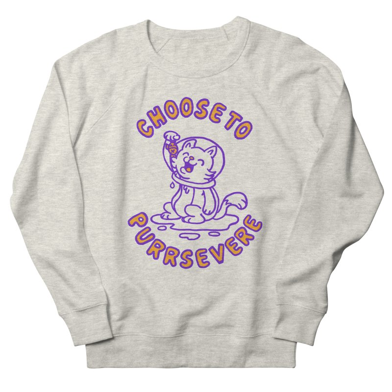Choose to purrservere Men's Sweatshirt by Rodrigobhz