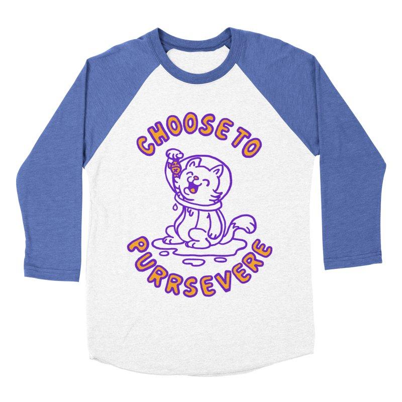 Choose to purrservere Women's Baseball Triblend T-Shirt by Rodrigobhz
