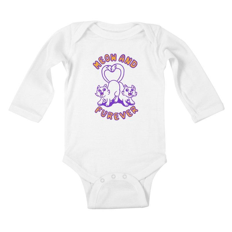 Meow and furever Kids Baby Longsleeve Bodysuit by Rodrigobhz