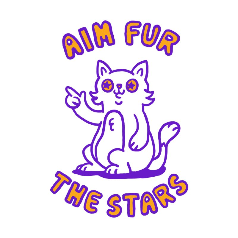 Aim fur the stars Kids T-Shirt by Rodrigobhz