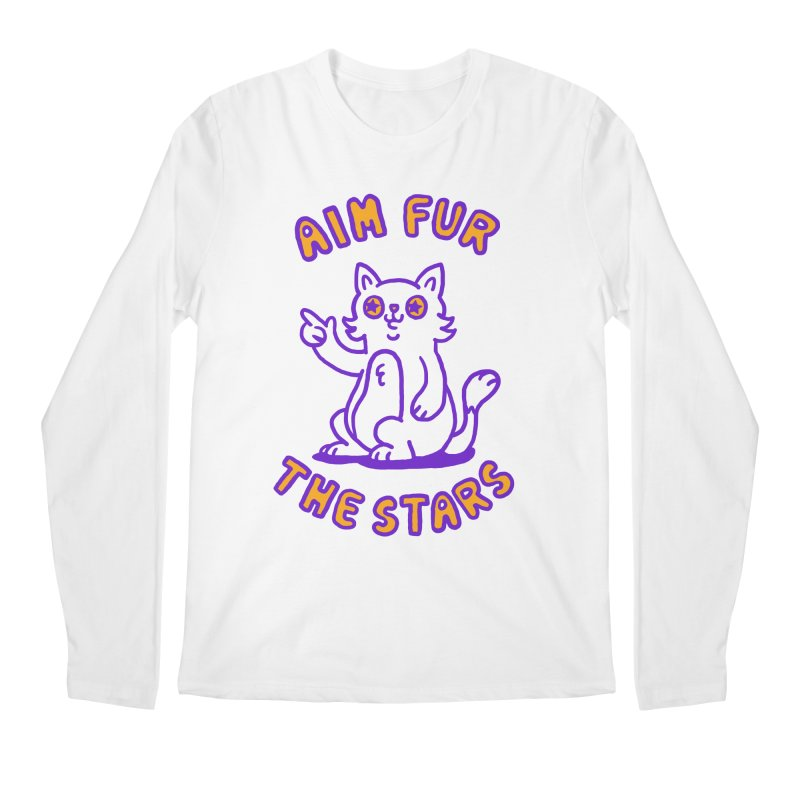 Aim fur the stars Men's Regular Longsleeve T-Shirt by Rodrigobhz