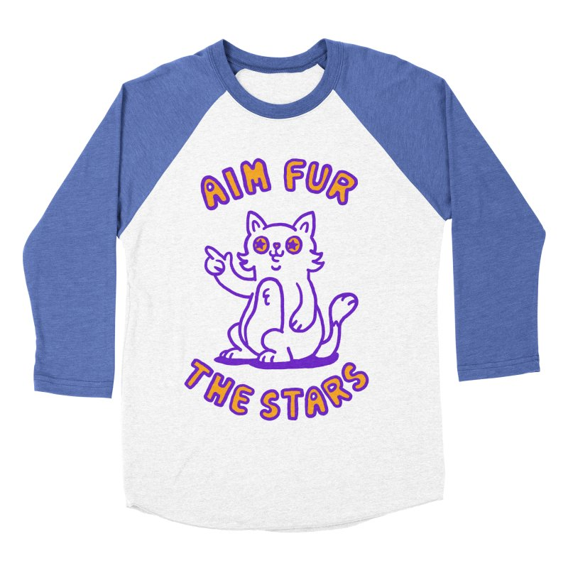 Aim fur the stars Women's Baseball Triblend T-Shirt by Rodrigobhz