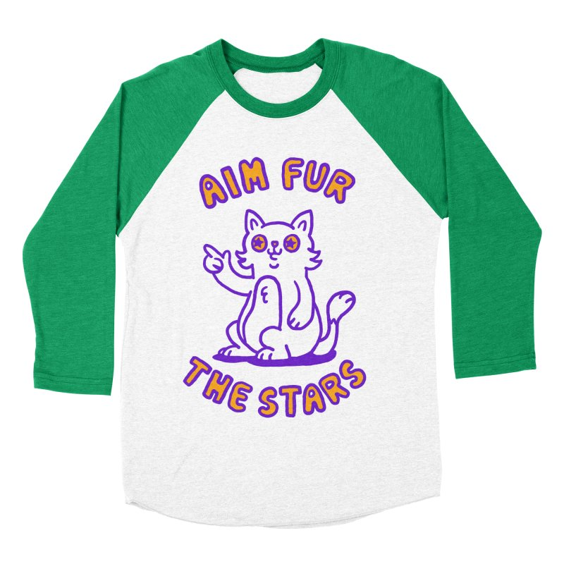 Aim fur the stars Men's Baseball Triblend T-Shirt by Rodrigobhz