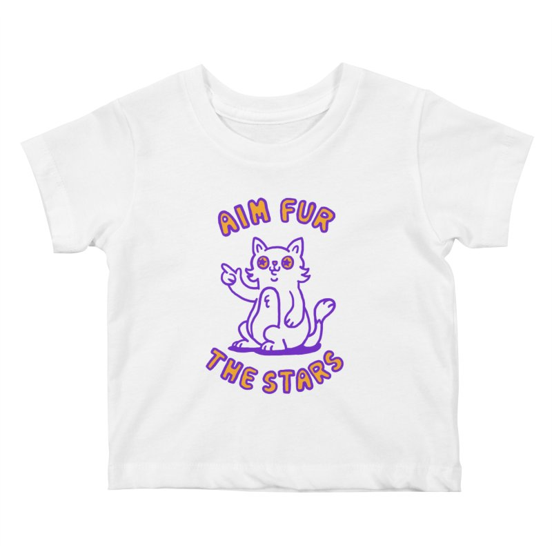 Aim fur the stars Kids Baby T-Shirt by Rodrigobhz