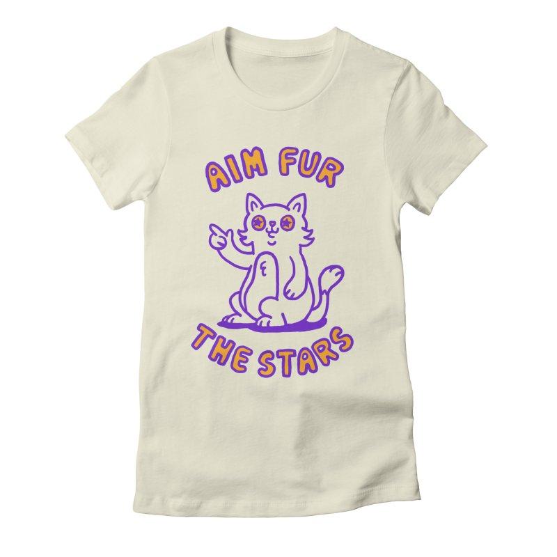 Aim fur the stars Women's Fitted T-Shirt by Rodrigobhz