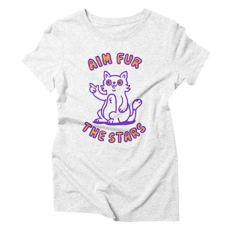 Aim fur the stars Women's Triblend T-shirt by Rodrigobhz