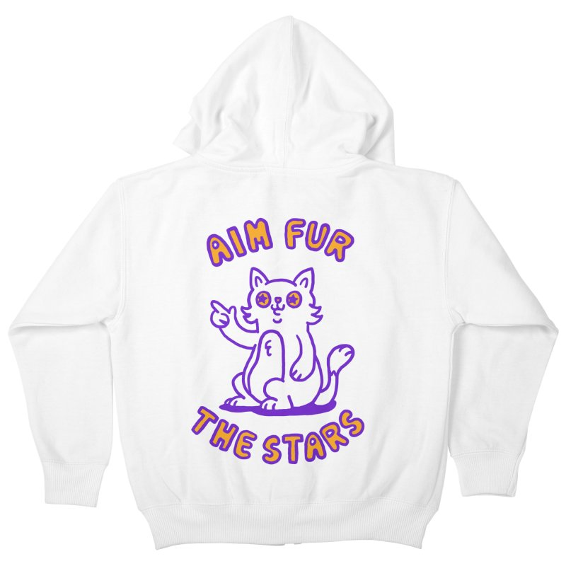 Aim fur the stars Kids Zip-Up Hoody by Rodrigobhz