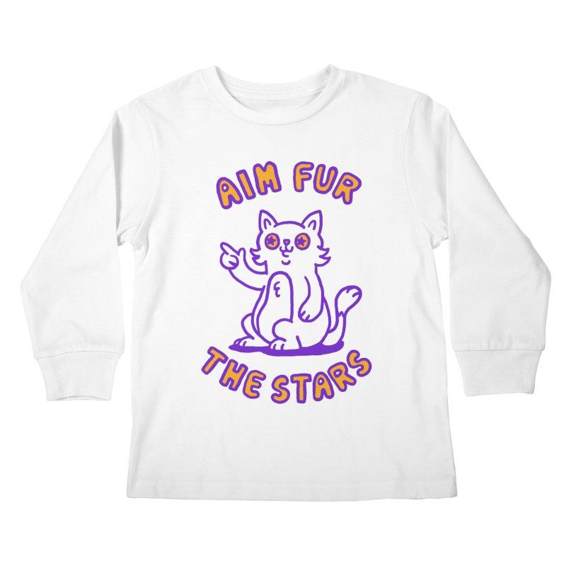 Aim fur the stars Kids Longsleeve T-Shirt by Rodrigobhz