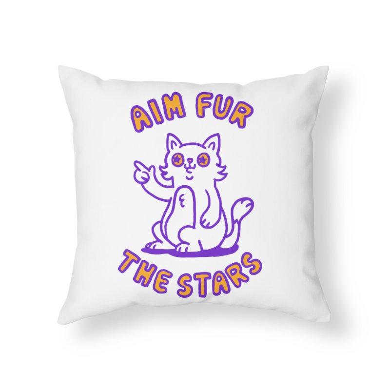 Aim fur the stars Home Throw Pillow by Rodrigobhz