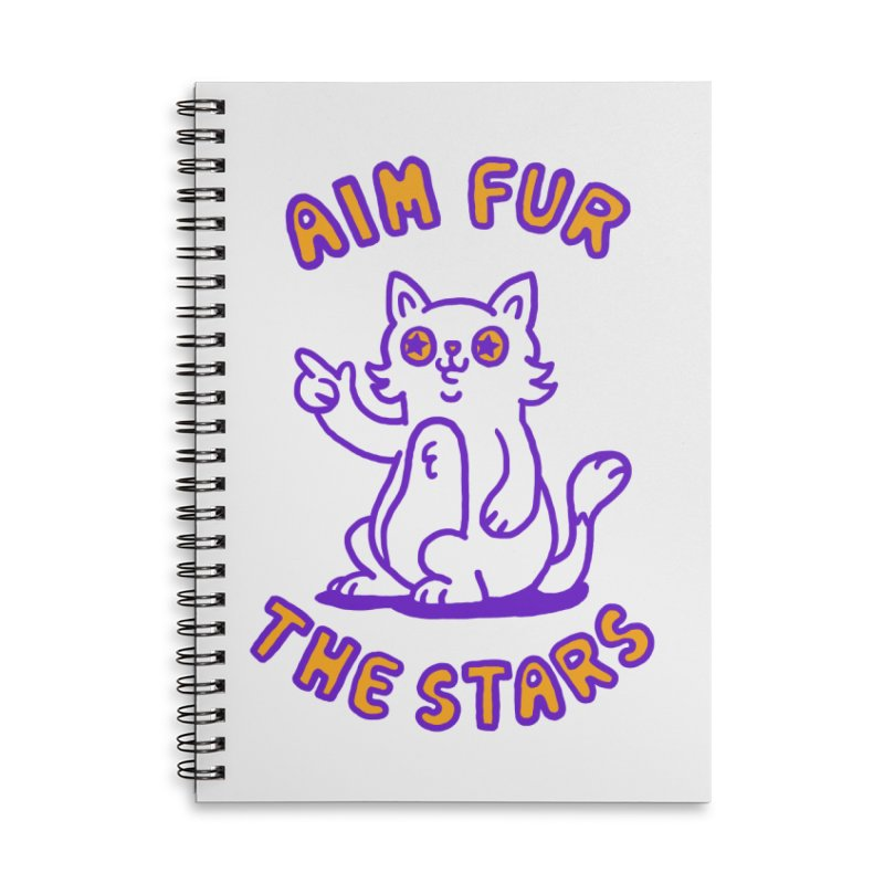 Aim fur the stars in Lined Spiral Notebook by Rodrigobhz