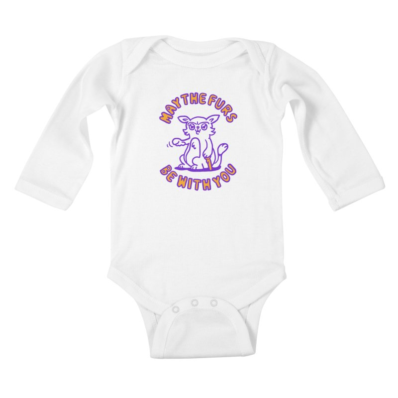 May the furs be with you Kids Baby Longsleeve Bodysuit by Rodrigobhz