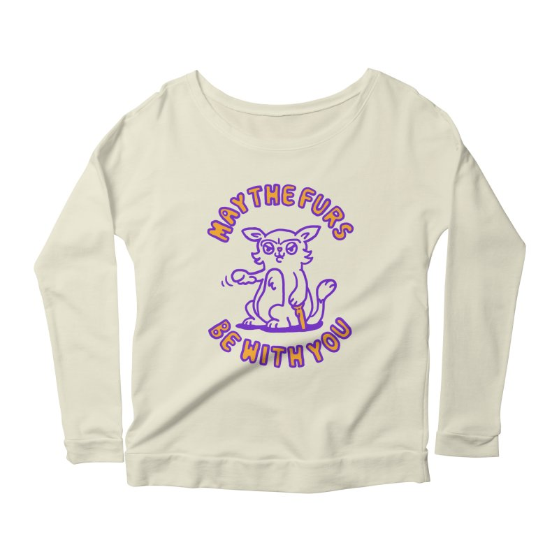 May the furs be with you Women's Longsleeve Scoopneck  by Rodrigobhz
