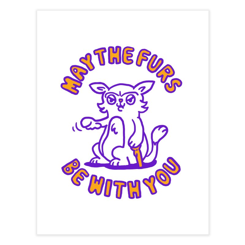 May the furs be with you Home Fine Art Print by Rodrigobhz