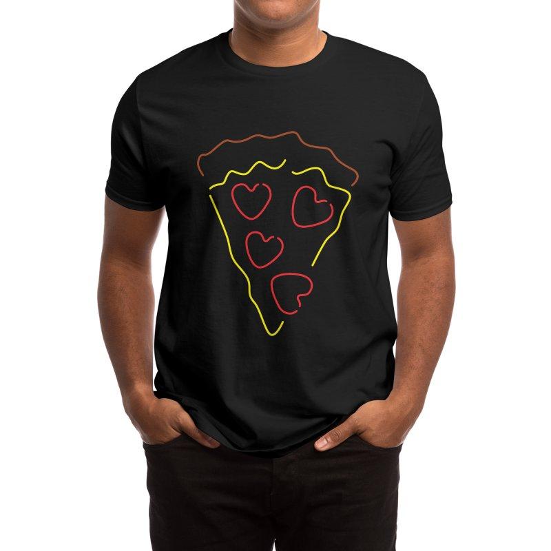 Pizza love Men's T-Shirt by Rodrigobhz