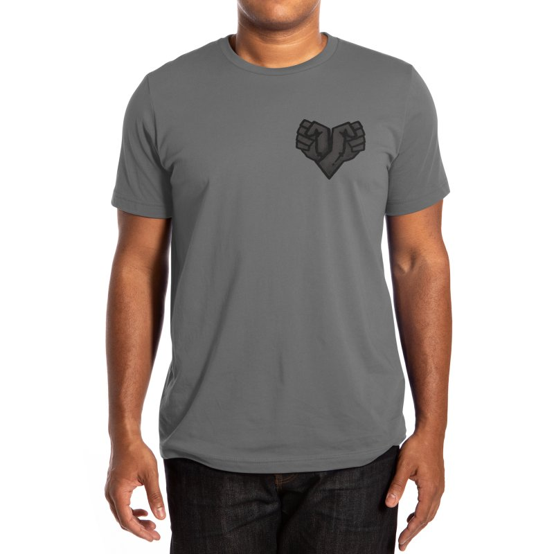 Black heart Men's T-Shirt by Rodrigobhz