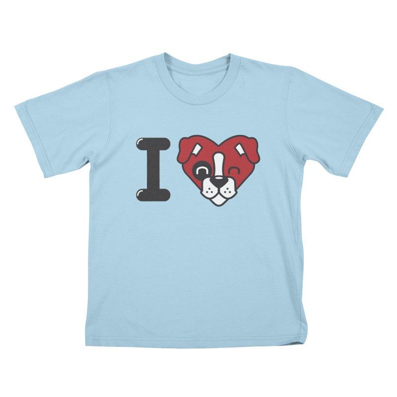 Dog person Kids T-Shirt by Rodrigobhz