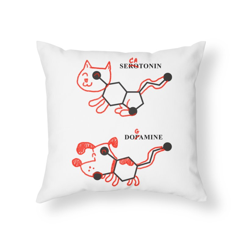 The Hormones of Happiness Home Throw Pillow by Rodrigobhz